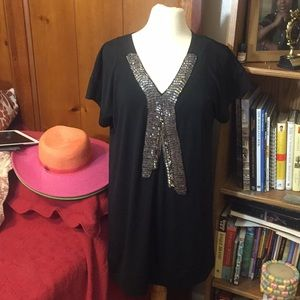 Karen Zambia Embellished Neckline Tunic
